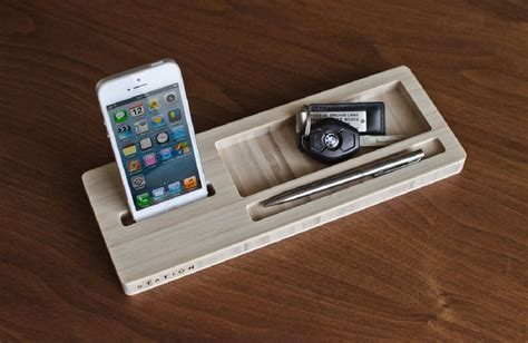 classic station desk caddy for your phone and wallet 187 gadget flow