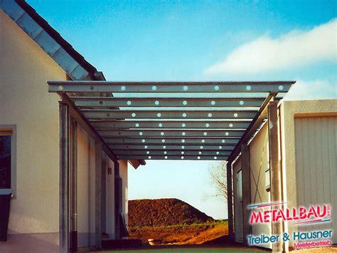 carport stahl verzinkt metallbau treiber hausner 220 berdachung giebeldach