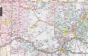 map of northern new mexico and southern colorado from cortez via chaco to taos santa fe