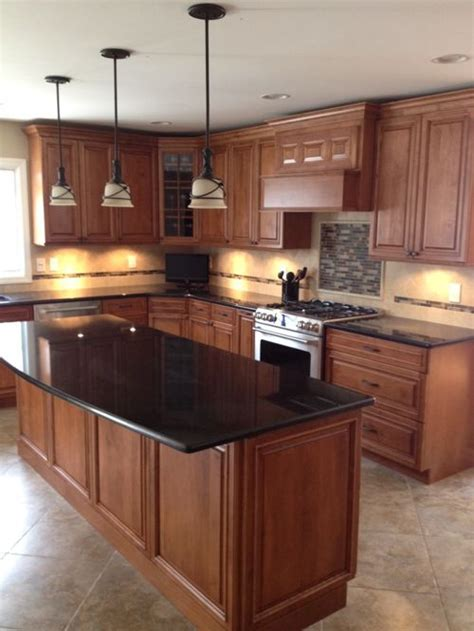 pics of black kitchen cabinets black pearl granite houzz