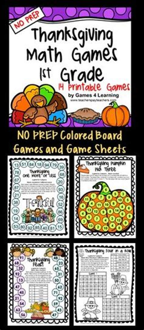 printable math board games for first grade 1000 images about thanksgiving activities on pinterest