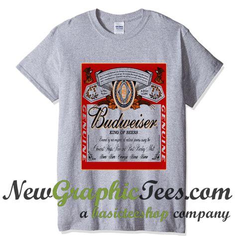 Tees Kaos T Shirt Budweiser budweiser king of beers t shirt