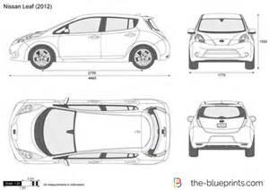 Nissan Leaf Length The Blueprints Vector Drawing Nissan Leaf