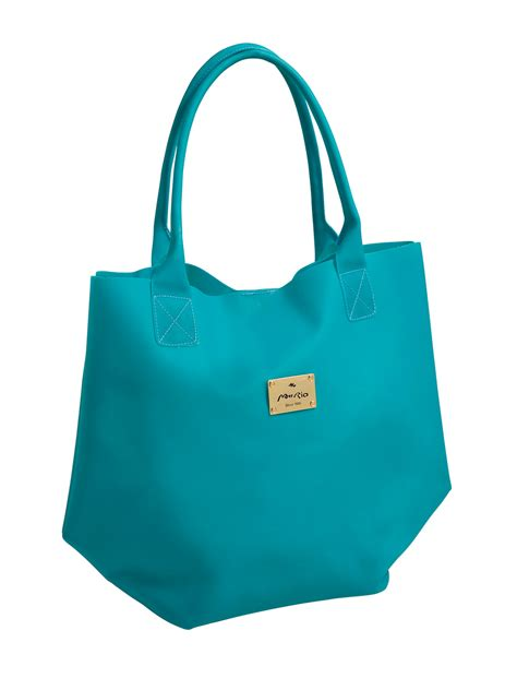mar blue tote bag silicon texture easy teal