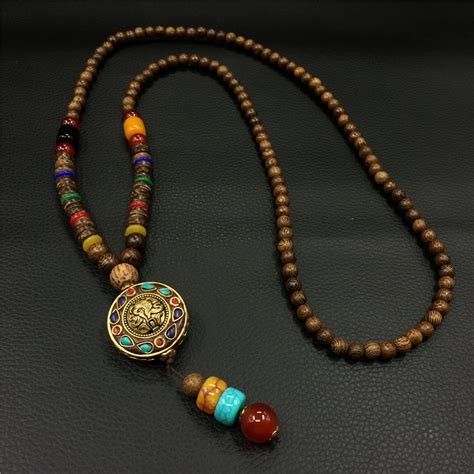 mens wooden beaded necklaces popular wooden necklace for buy cheap wooden
