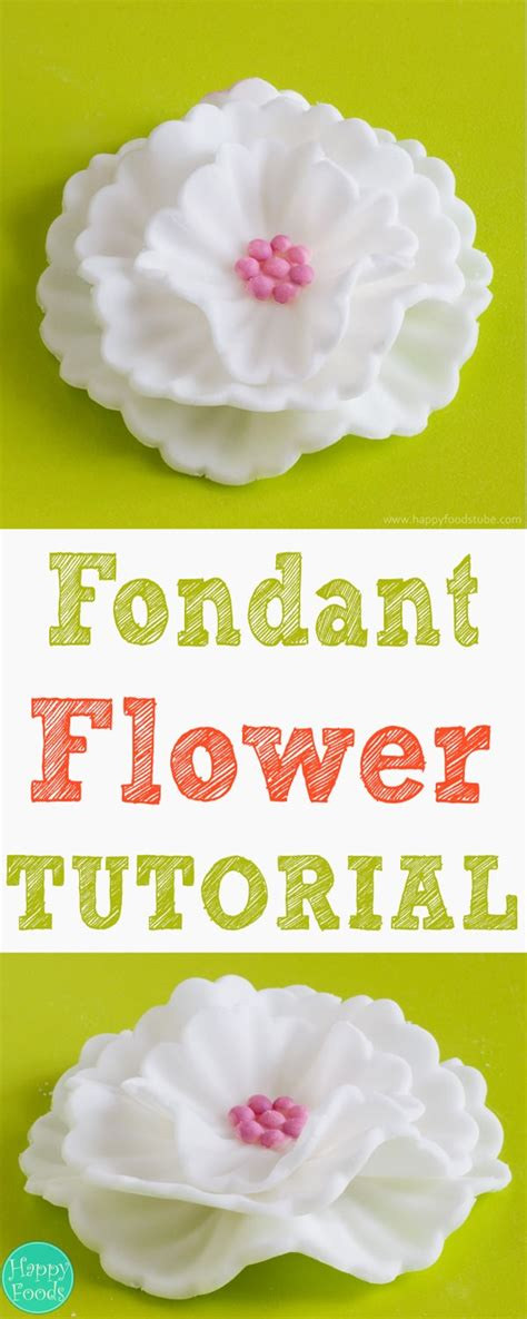 Super Bowl Decorating Ideas How To Make Fondant Flowers Tutorial Happyfoods Tube