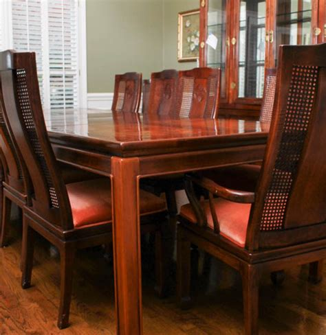 asian style bernhardt dining table  chairs ebth