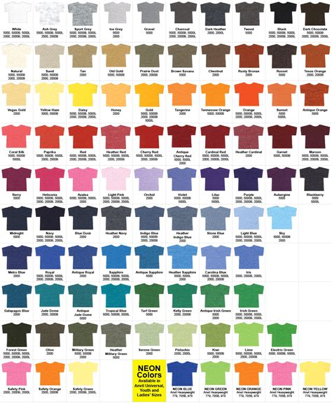 gildan colors gildan t shirt color chart neiltortorella