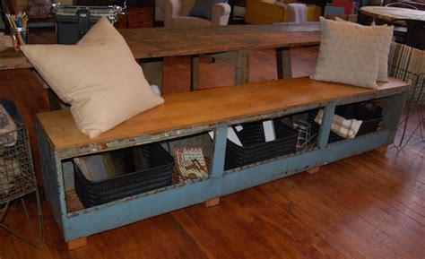 repurposed bench yellow chair market 187 repurposed metal toolbox bench