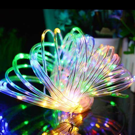solar led string lights outdoor מוצר solar rope lights 120 leds solar powered led string