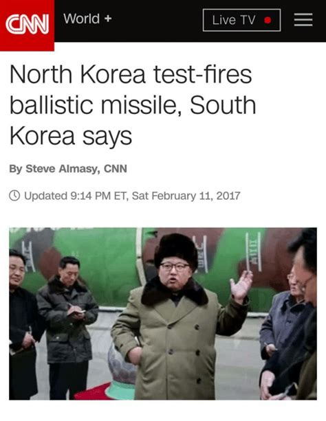 North Korea South Korea Meme - cnn world live tv north korea test fires ballistic missile south korea says by steve almasy cnn