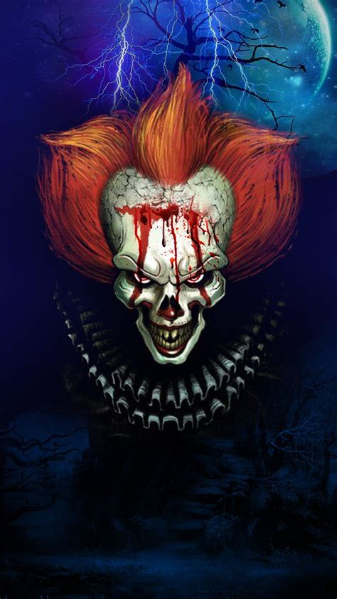 scary clown blood dripping creepy clown wallpaper