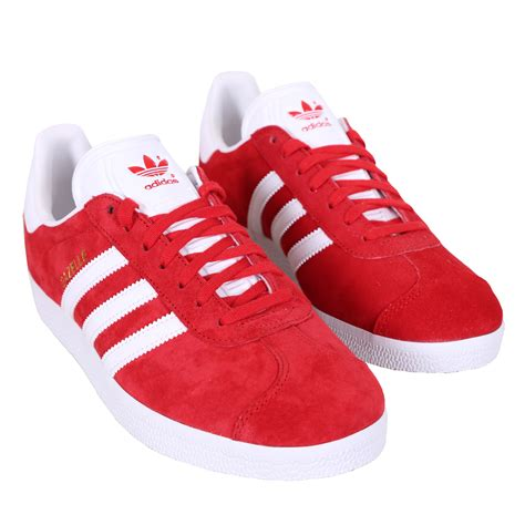 adidas red shoes adidas shoe gazelle low sneaker red white 124569 at hoodboyz