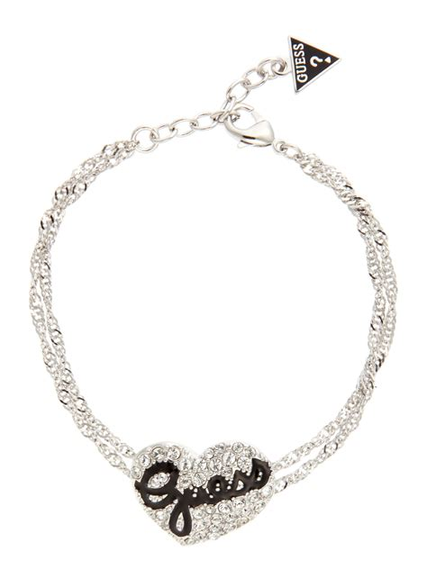 Puff Pendant Necklace From Topshop by Guess Jet Puff Bracelet In Silver Lyst