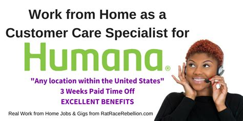 humana now hiring work from home as a customer care