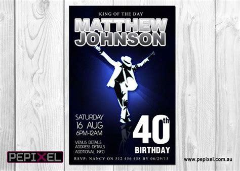 printable birthday invitations michaels michael jackson birthday digital printable invitation
