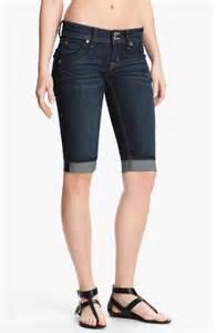 Hudson jeans cuff stretch denim bermuda shorts stella nordstrom