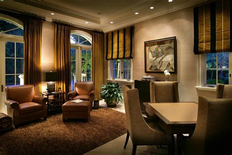 mixed window treatments in the family room