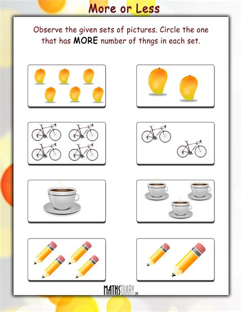 More Pictures On The Set Of And The City by Math Worksheets For Kindergarten More Or Less Www Imgkid