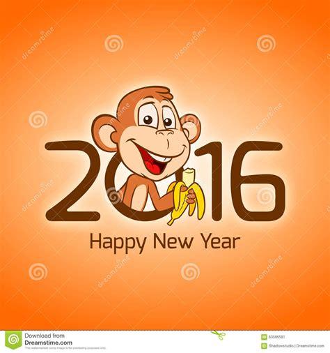 new year monkey birth years year 2016 monkey zodiac stock vector image 63586581