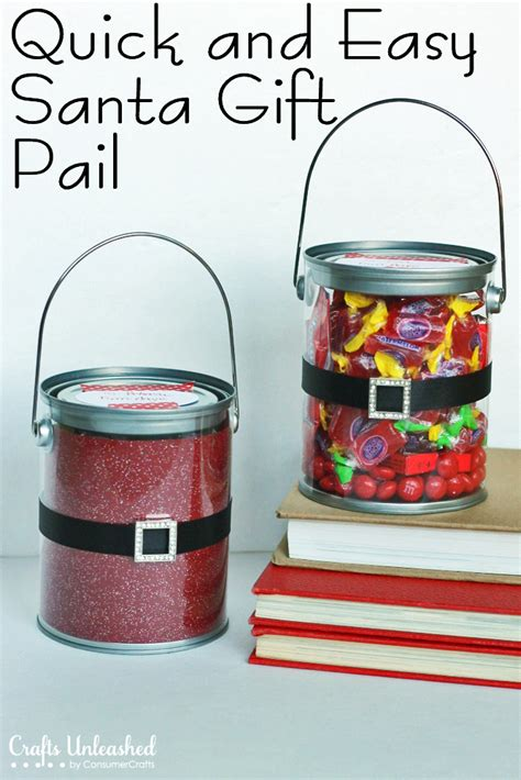 christmas crafts quick and easy santa gift pails