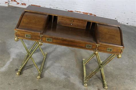 Vintage Drexel Desk by Vintage Drexel Caign Desk With Gilt X Base Legs And Low