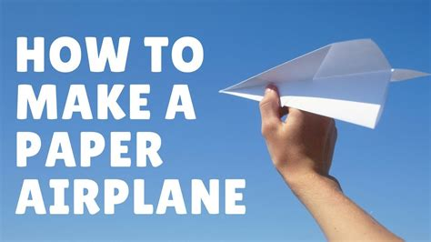 How To Make A Paper Airplane Fly Far - how to make a paper airplane simple paper airplane that