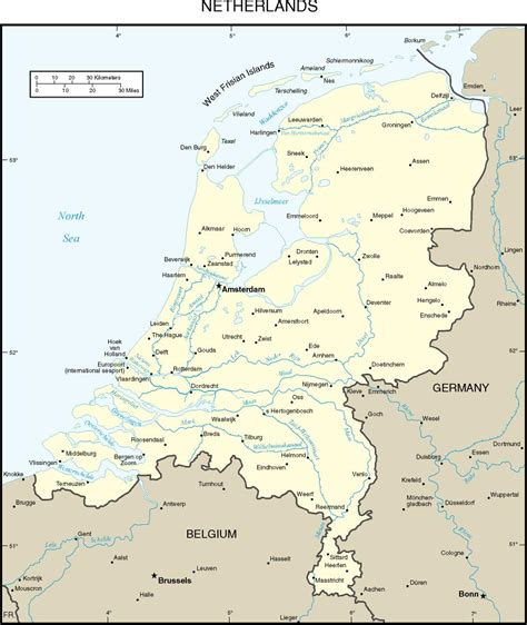 netherlands map major cities maps of europe