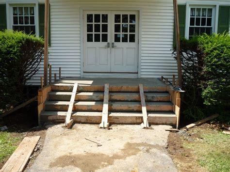 buildpour concrete steps