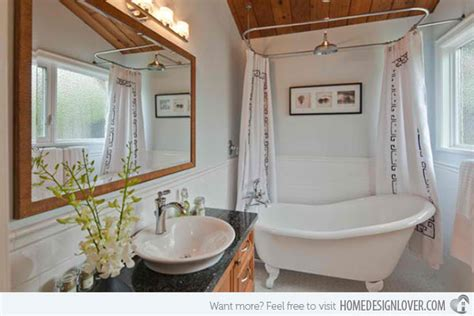 15 ideas on setting a bathroom with victorian bath tub