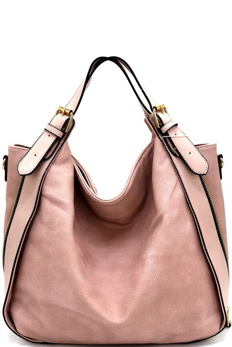 Fashion Hobo Lukis 3in1 Rc2022 yb0024p z blush buckle accent convertible hobo