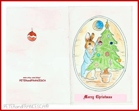 peter rabbit a christmas peter rabbit christmas tree card holidays by tickledpinkcolors