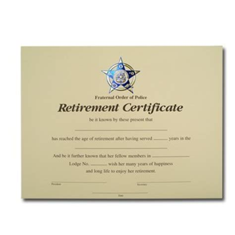 retirement certificate wording pictures to pin on