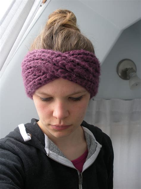 yarn headband pattern knitting patterns galore turban headband