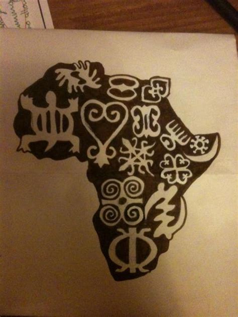 africa map tattoo designs amazing black map with symbols design