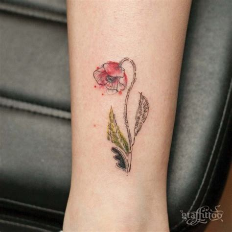 small poppy tattoo best tattoo ideas gallery