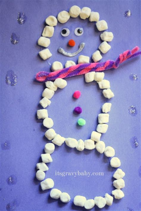 easy crafts for marshmallow snowmen 8 easy snowman crafts for they make