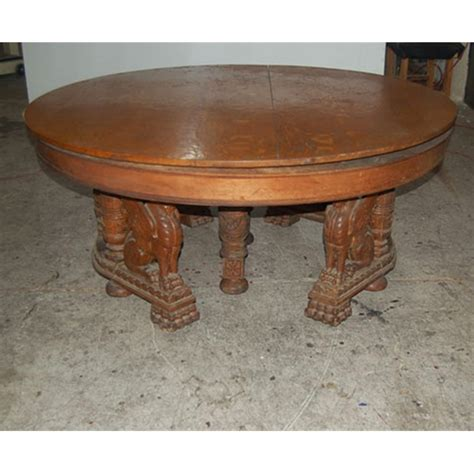 Oak Dining Table Sale Antique Carved Figural Winged Griffin Oak Dining Table For Sale Antiques Classifieds