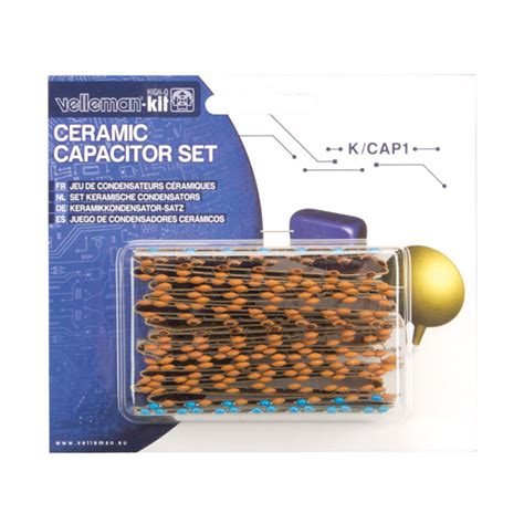 capacitor kit velleman k cap1 224 ceramic capacitor kit rapid