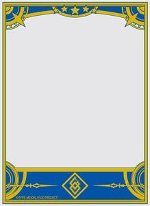 fgo card template character sleeve protecter pattern of the world fate
