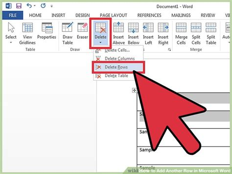 how to a table in word how to add another row in microsoft word 11 steps with