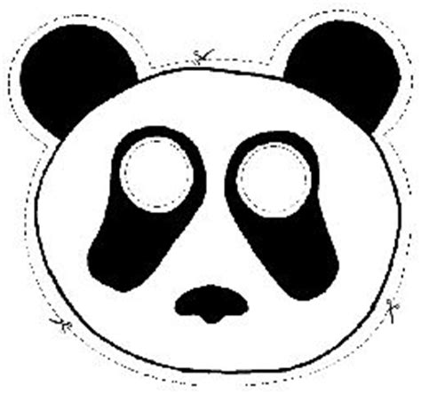 printable panda mask template panda mask pattern boof pinterest
