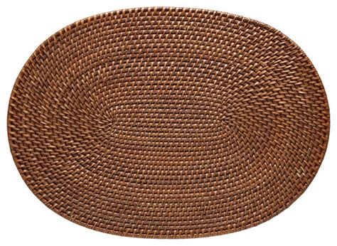 Rattan Place Mats by Oval Rattan Placemats Honey Brown Set Of 2