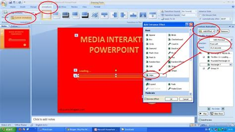 cara membuat power point huruf bergerak membuat efek loading di powerpoint