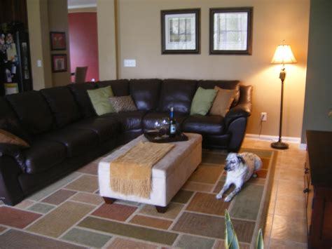 decorating with leather sofa mirror hardwood floors