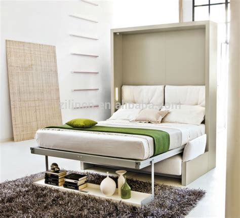 modern bedroom design with space saving ikea folding wall