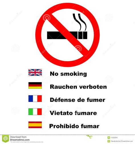 no smoking sign in french no smoking sign stock images image 11532204
