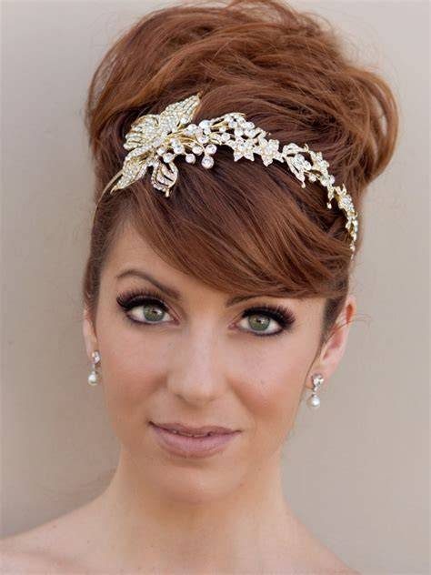 hairstyles with a headband for short hair 20 wedding hairstyles with headband ideas wohh wedding