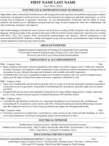 Resume Exles For Electrical Technician Top Trades Resume Templates Sles