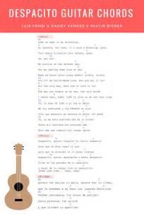 Chord Despacito Despacito Guitar Chords Lyrics Justin Bieber Remix